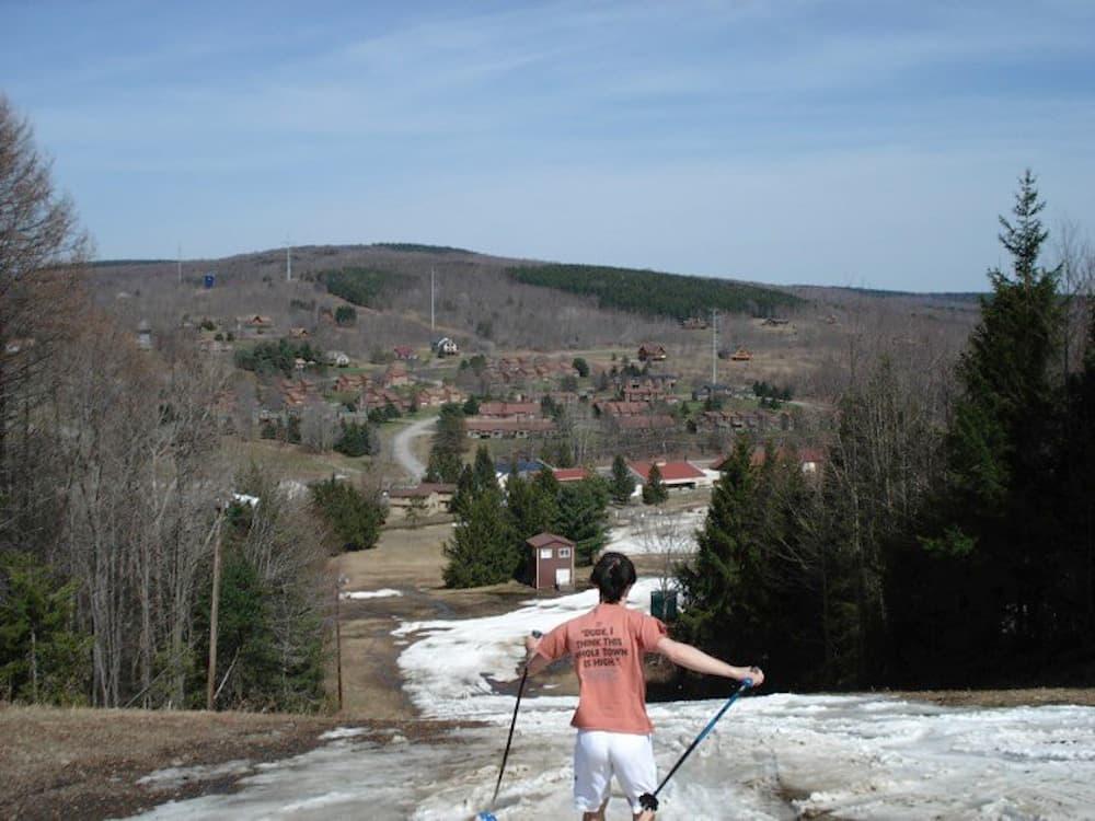 Spring skiing at Greek Peak Mountain Resort in Cortland, N.Y. (Kendall Brunette)