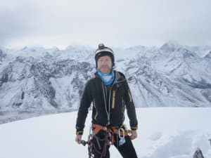 Sheridan climber Darren Rogers successfully climbed Lobuche, a peak in Nepal, before attempting to climb nearby Mount Everest. Rogers was at Camp 1 on Everest when an earthquake shook Nepal April 25. (courtesy Darren Rogers)
