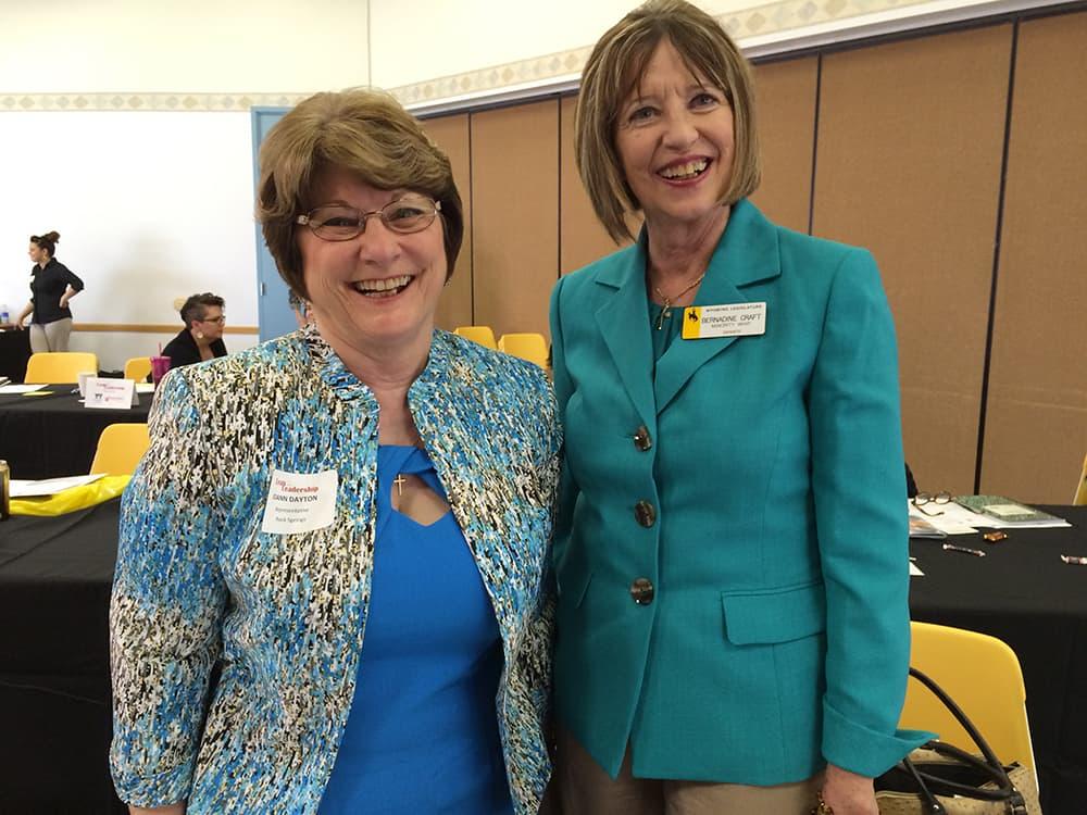 Wyoming Sen. Bernadine Craft (D-Rock Springs) and Rep. JoAnn Dayton (D-Rock Springs). (courtesy Michele Irwin)