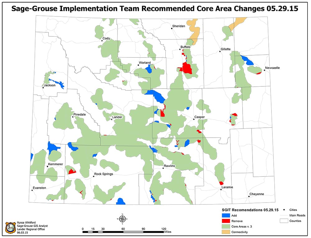 Sage grouse winter habitat in limbo wyofile for Wyoming game and fish maps