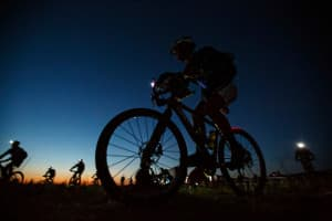 Competitors race in the dark during last year's Cameco Cowboy Tough Adventure Race. Elite teams barely sleep during the race. (courtesy Chris Radcliffe/Rev3)