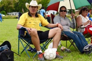 Javier Quezada and Bertha Ayala of Craig, Colo. (Gregory Nickerson/WyoFile)