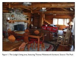 The Brinkerhoff Lodge is a four-bedroom retreat in Grand Teton National Park furnished with museum-quality furniture made by Thomas Molesworth. The historic structure will only be used overnight by officials on business, the Park Service director has promised. (National Park Service)