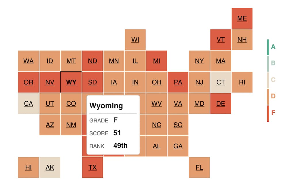 Wyoming flunks open government test