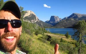 SUIndependent, a southern Utah news site, posted this photograph of Adam Stewart on its web page after the Virgin, Utah resident was killed by a bear in the Teton Wilderness. Stewart, seen here in front of iconic Squaretop Mountain at the north end of Wyoming's Wind River Range, was working for a private company conducting research for the U.S. Forest Service when he failed to return from a trip. (SUIndependent )