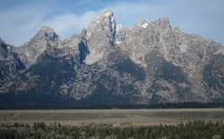"A lawsuit against the state of Wyoming contends that photos such as this one of the Grand Tetons in Grand Teton National Park may be criminalized under a set of new Wyoming laws that attempt to thwart so called ""data trespass."" (Dustin Bleizeffer/WyoFile)"