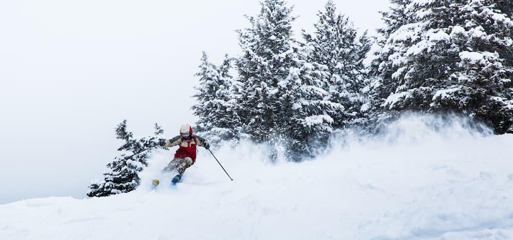 Slashin' through the snow