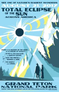 Expect creative retail ideas to emerge for the total solar eclipse, perhaps even an eclipse hacky sack. Already Tyler Nordgren, professor of physics and astronomy at the University of Redlands, California, has produced a Tetons-themed poster. (Tyler Nordgren http://www.tylernordgren.com/)