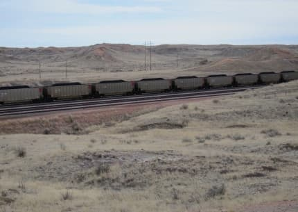 The drop in coal train traffic has been one of the most visible signs of the decline of the Powder River Basin coal industry. Despite that decline, and other headwinds, numerous initiatives to expand export infrastructure for PRB coal remain alive. (Dustin Bleizeffer/WyoFile)