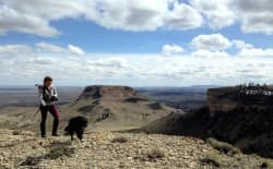 Sara Domek walks in the Oregon Buttes Wilderness Study Area in Sweetwater County. A new study looks at the economic impact of non-motorized activities like hiking, on BLM land. (Nick Dobric)