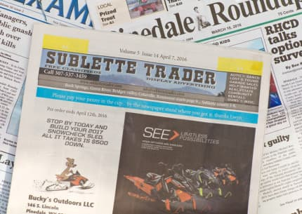 The publisher of the Pinedale Roundup and Sublette Examiner filed suit against Sublette County and its board of county commissioners after they moved legal advertising to the Sublette Trader shopper. A judge ruled the move violated Wyoming law and that the county must pay the Roundup for lost revenue. (Angus M. Thuermer Jr./WyoFile)