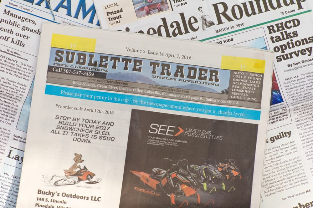 In Pinedale, if it looks like a duck it's … a newspaper!