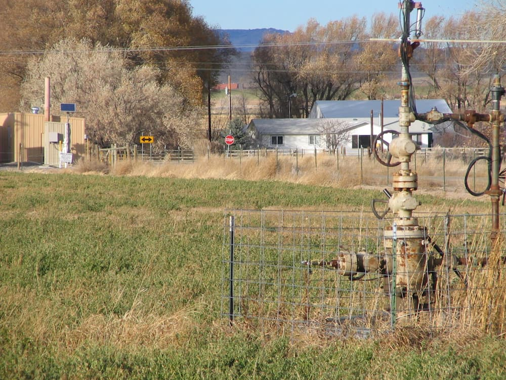This wellhead is among hundreds of wells that have been drilled in the Pavillion oil and gas field located outside the town of Pavillion in central Wyoming. (Dustin Bleizeffer/WyoFile)