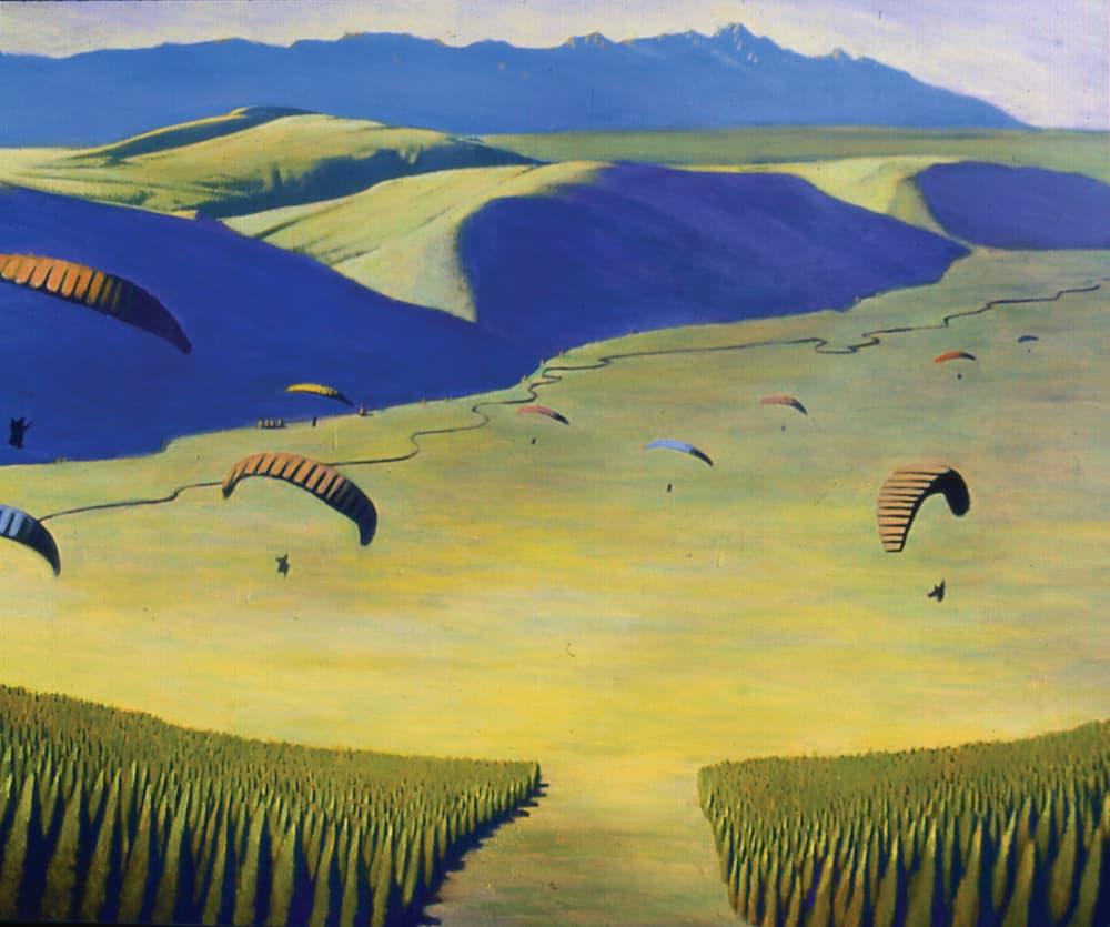An artist's view of the Tetons