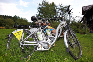 E-bikes can be difficult to differentiate at a glance, but their capabilities can more closely resemble motorcycles than traditional bikes, some riders say, making them unsafe on many trails. (Photo by Bad Kleinkirchheim, courtesy of Flickr Creative Commons)