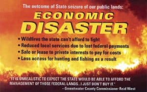 """A mailer sent out by the Wyoming Hunters and Anglers Alliance. The group is an example of progressive causes in Wyoming using """"dark money"""" tactics. This mailing was cited in a complaint filed by the Wyoming Republican party."""