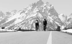 Cyclists ride in Grand Teton National Park. Gov. Matt Mead is starting a new recreation task force to foster and promote outdoor recreation in Wyoming. (Angus M. Thuermer Jr./Wyofile)