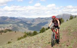 Kerry Strike rides in the Sunlight Basin area near Cody. A new plan from the Forest Service will add trails on the Shoshone National Forest, but also close trails like this one, that are not part of the official trail system. (John Gallagher, Park County Pedalers)