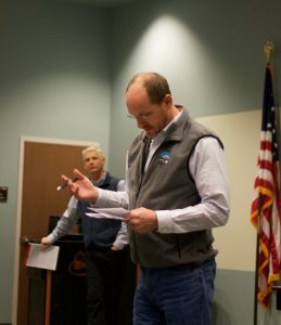 "DEQ Director Todd Parfitt: ""Just to be clear, the only thing that we have made a statement about regarding the oil and gas involvement is that we could not find a link between hydraulic fracking and anything in the wells. And we stand behind that. That doesn't mean there isn't some other activity associated with oil and gas development that may be contributing to basic palatability issues with the water."""