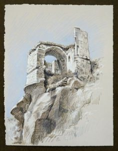 Travel Drawing: Ibrahimpasa, Turkey, by Doug Russell