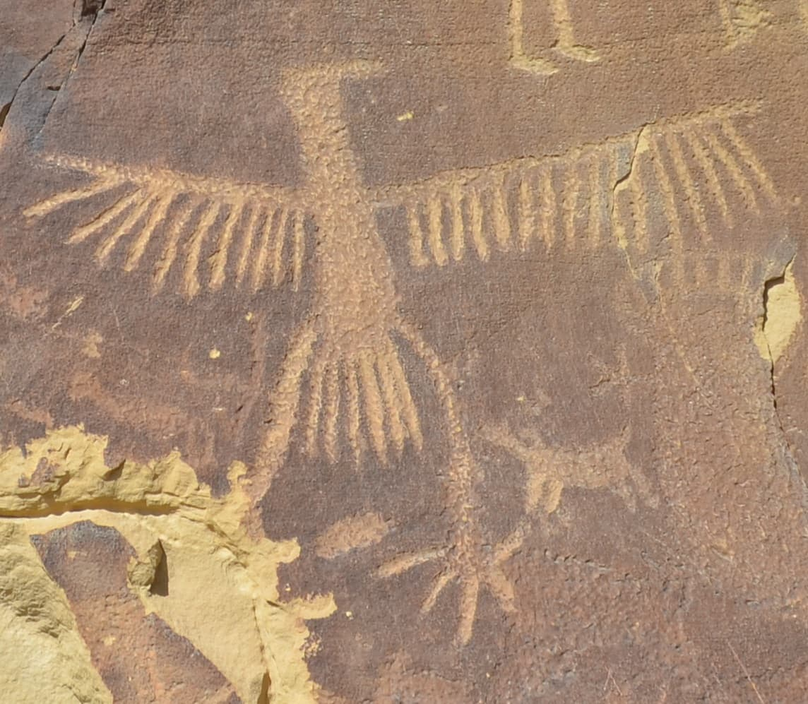 Are thunderbird petroglyphs linked to golden eagle nests?