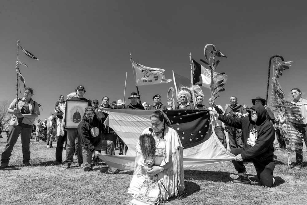 Activist at treaty grounds