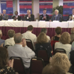 Gubernatorial candidates talk diversification, not taxes