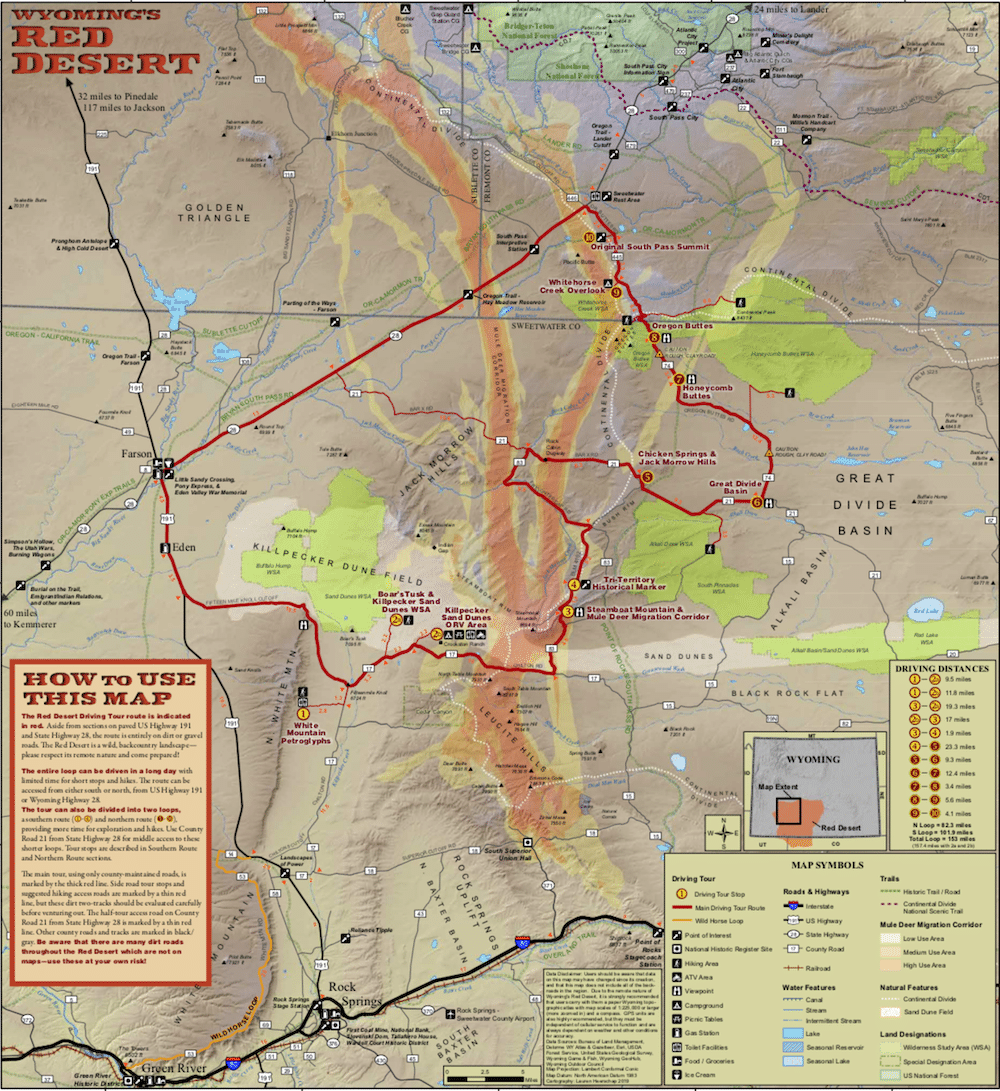 New Map Aims To Demystify Remote Red Desert Wyofile