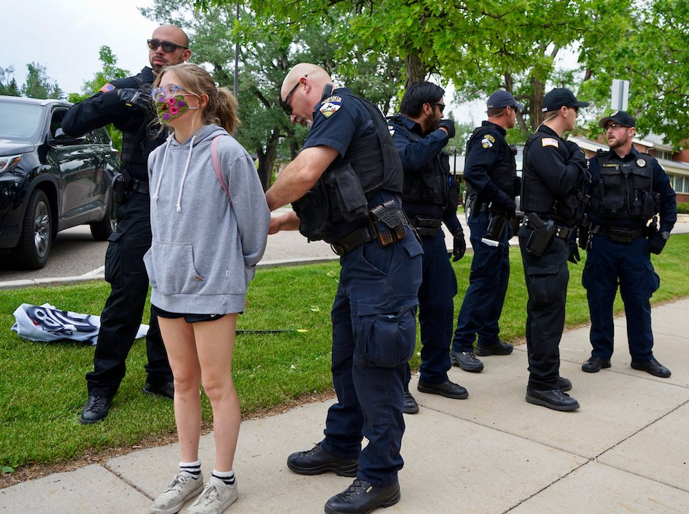 Protesters challenge arrests as First Amendment infringements