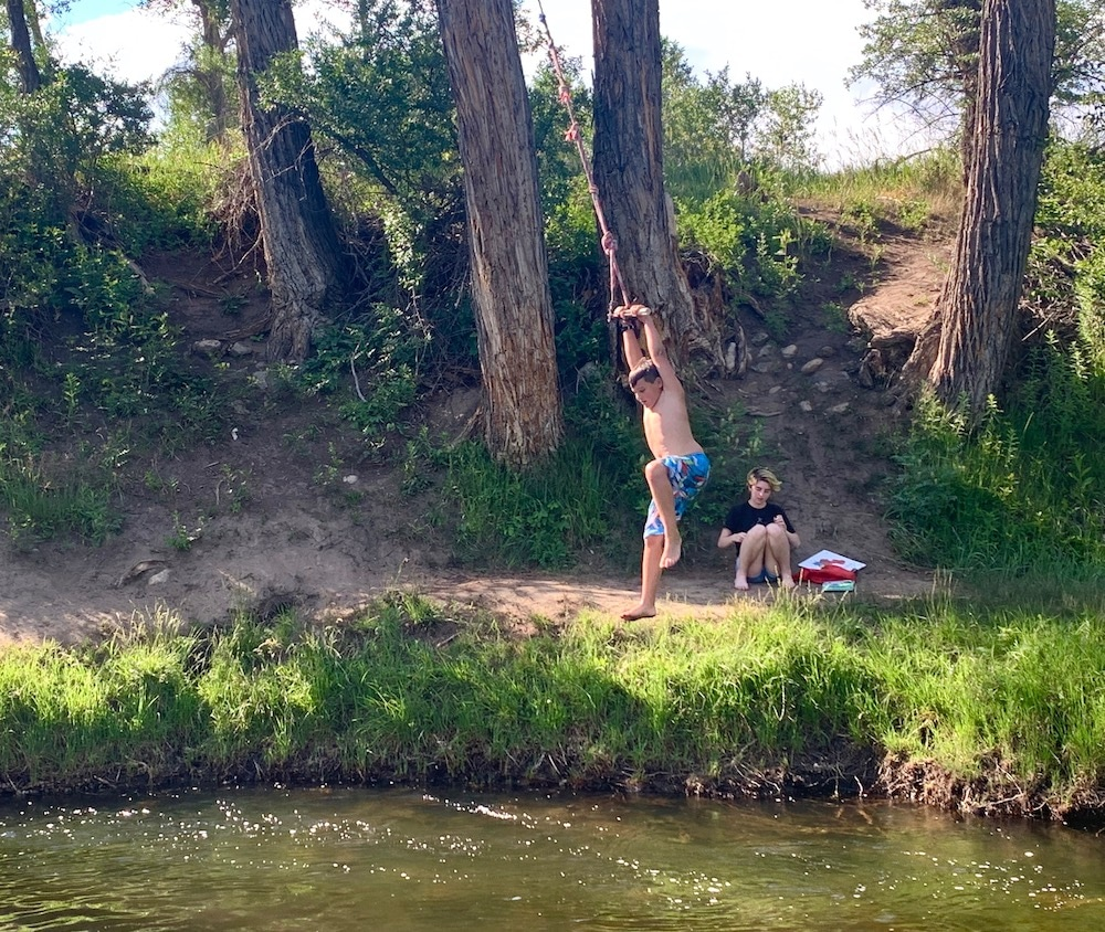 Summer swimming hole